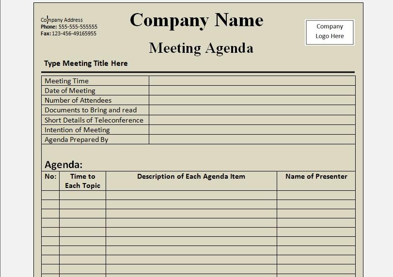 Agenda Format Word Under Bergdorfbib Co