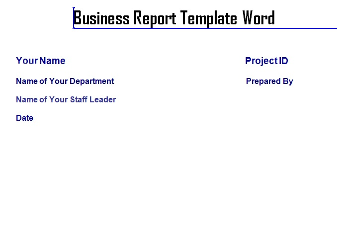 Professional Report Template | Professional Business Report Template Word Exceltemple