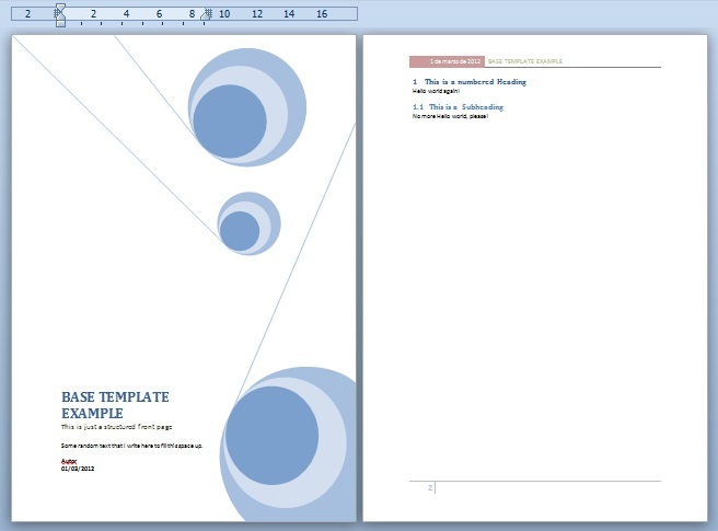 Word document templates 2015