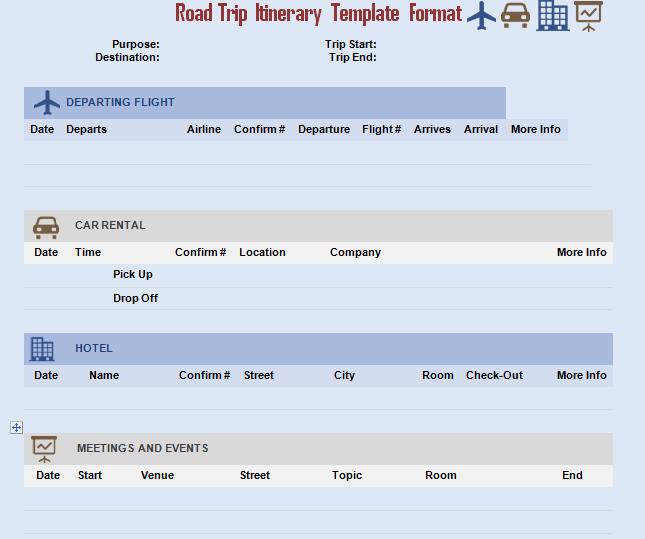 Road Trip Invitation Template Format