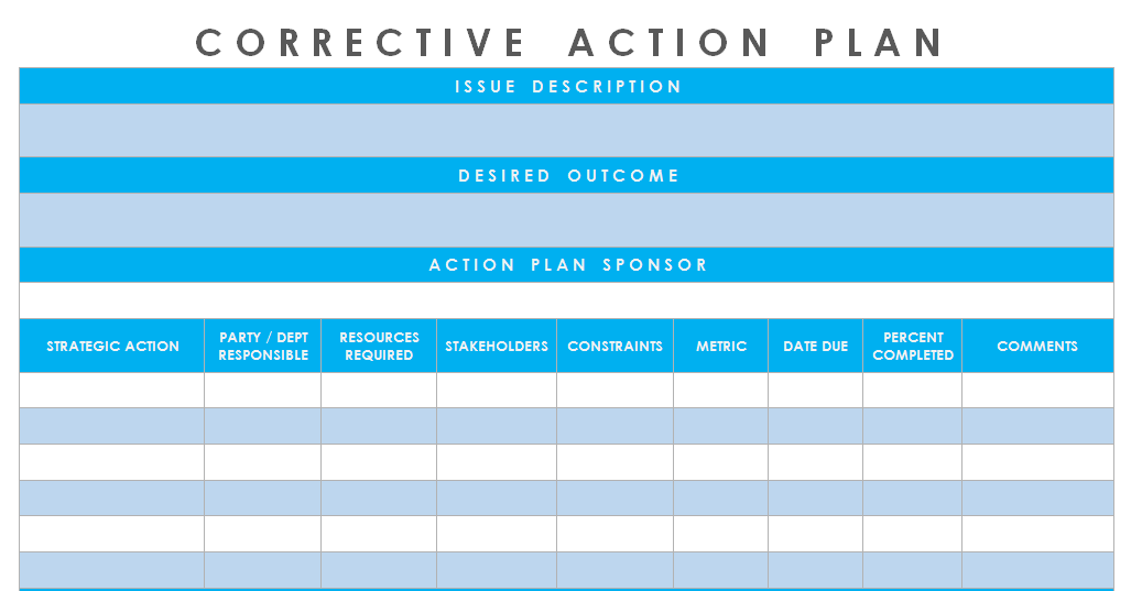 Get corrective action plan template excel microsoft for Preventive action plan template