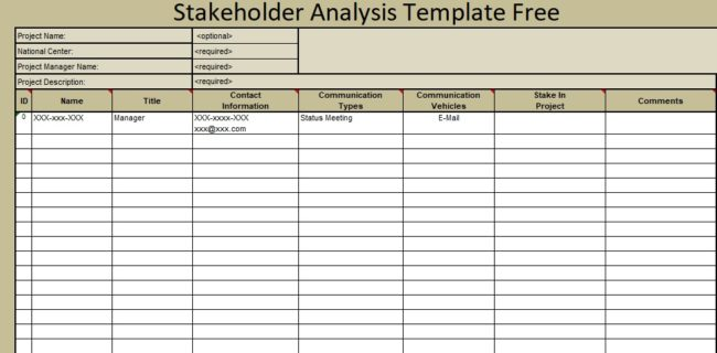 stakeholder analysis template free microsoft excel templates. Black Bedroom Furniture Sets. Home Design Ideas