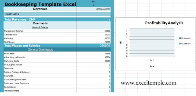 Download Bookkeeping Templates Excel