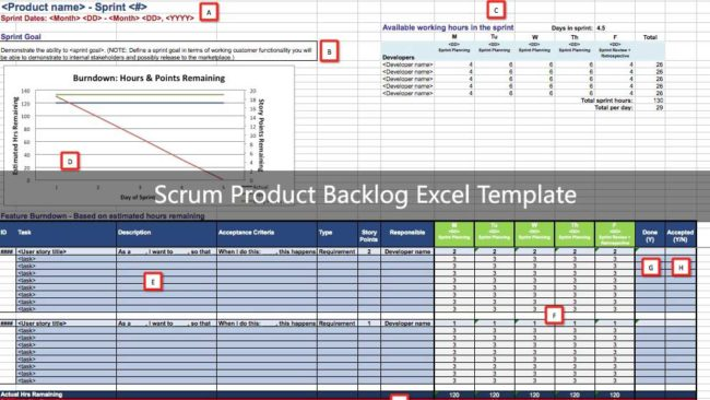 Guide To Use Scrum Product Backlog Excel Template Exceltemple